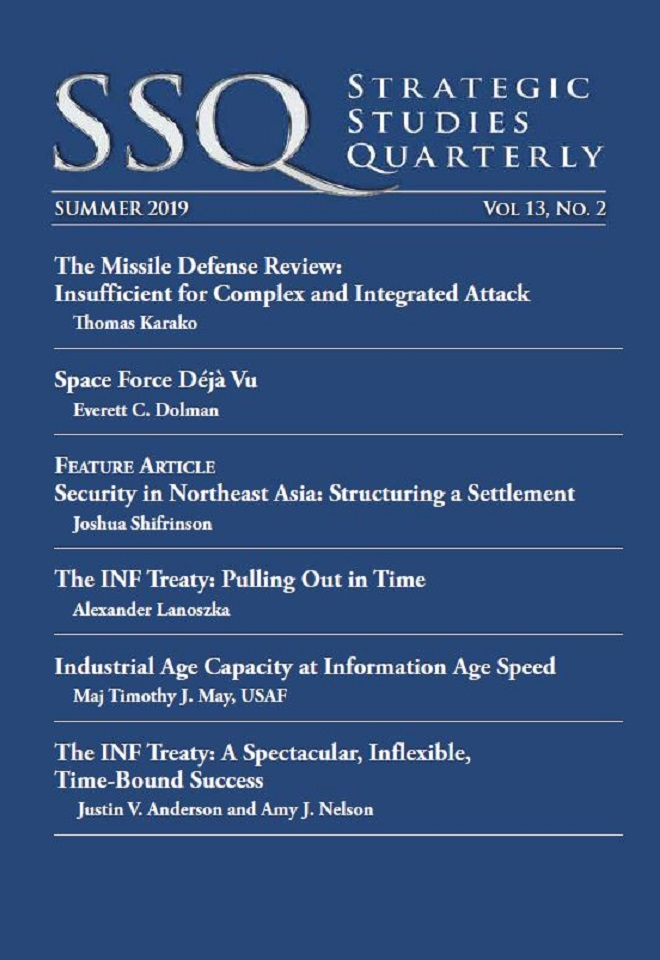Strategic Studies Quarterly (SSQ) is the peer reviewed strategic journal of the United States Air Force, fostering intellectual enrichment for national and international security professionals.