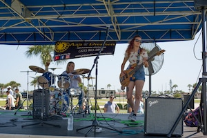 The 920th Rescue Wing held a biannual family day, at Patrick Air Force Base, Florida, Saturday, May 4, complete with food, games and live music. A local band, Anja and the Dreamer, provided live entertainment. (U.S. Air Force photo)