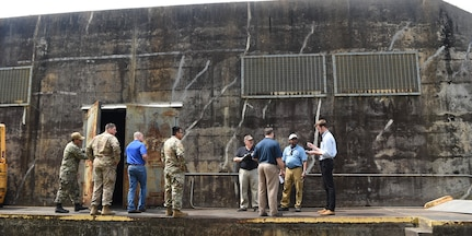 "Inspectors working with the Defense Threat Reduction Agency and Naval Treaty Implementation Program act as international officials and inspect munitions bunkers during the International Chemical Weapons Convention exercise May 16, 2019, at Naval Weapons Station Charleston, Joint Base Charleston, S.C.  A feature of the Convention is its incorporation of the ""challenge inspection,"" whereby any State Party in doubt about another State Party's compliance can request a surprise inspection. The purpose of the exercise is to test the response of base assistance teams should the U.S. receive an international challenge inspection under the Chemical Weapons Convention Treaty. The Chemical Weapons Convention aims to eliminate an entire category of weapons of mass destruction by prohibiting the development, production, acquisition, stockpiling, retention, transfer or use of chemical weapons by States Parties. Exercises like these support the Department of Defense's priority of reformation and full spectrum readiness in the face of new challenges. (U.S. Air Force photo by Senior Airman Cody R. Miller)"