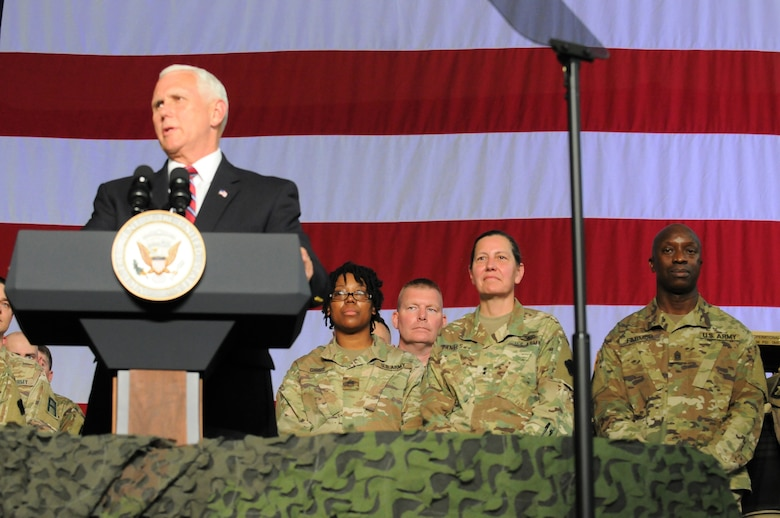 88th RD greet vice president at Fort McCoy
