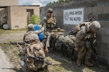 U.S. Marines with Combat Logistics Battalion 8, Combat Logistics Regiment 2, 2nd Marine Logistics Group, evacuate a casualty during a training exercise at Camp Lejeune, North Carolina, May 16, 2019.