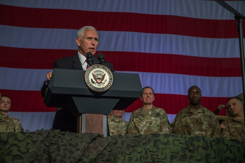 Vice President Mike Pence visits Fort McCoy, Wisconsin