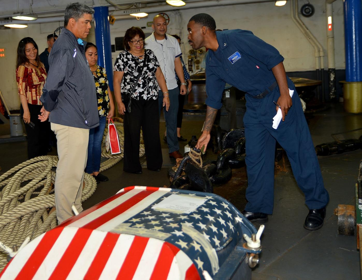 Community Leaders Embark Blue Ridge as 7th Fleet Flagship Returns to Guam