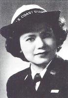 A photo of SPAR Florence Finch in uniform circa 1945