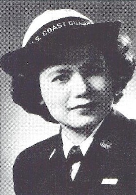 A photo of SPAR Florence Finch in uniform circa 1945