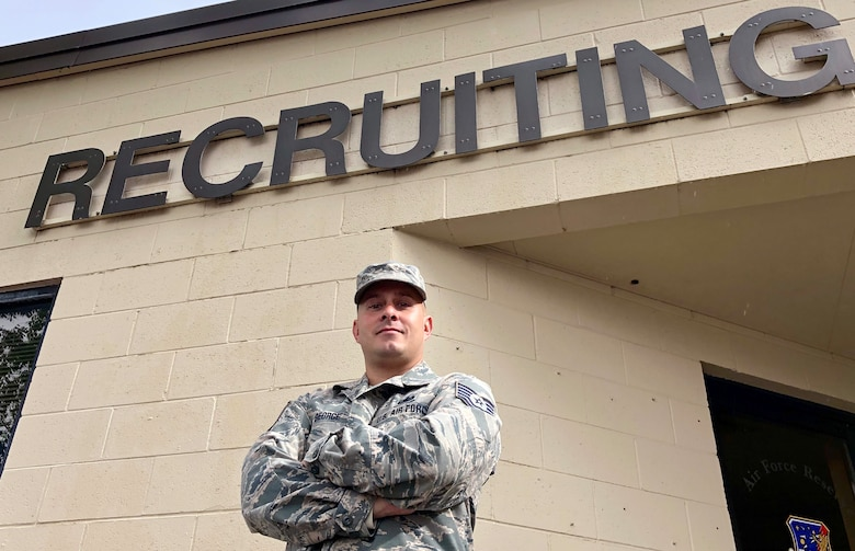 Tech. Sgt. Casey George, Air Force Reserve recruiter at Hill Air Force Base, Utah