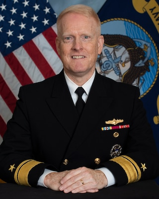 Navy Rear Adm. Frank D. Whitworth, Director for Intelligence (J2), on the Joint Staff, poses for a photo.