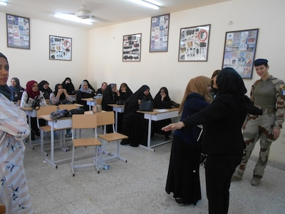 Women attached to the 6th Iraqi Division conducted a subject search workshop focusing on the crucial role women of the Iraqi Security Forces had to play.