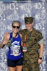 Fredericksburg, VA local and U.S. Marine Corps wife, Erica Brecher, 33, finished third with a time of 1:27:14.