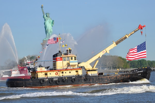 New York District Drift Collection Vessel HAYWARD leads Parade of Ships
