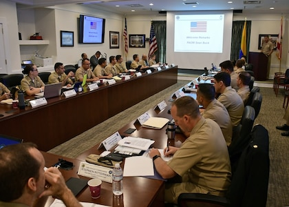 U.S. and Colombian Navy leaders conduct annual Maritime Staff Talks.