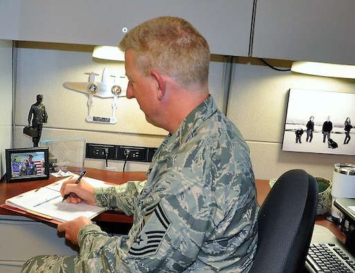 Senior Master Sgt. Craig Pfister, 340th FTG IG Inspections Superintendent (U.S. Air Force photo by Janis E Shabazz)