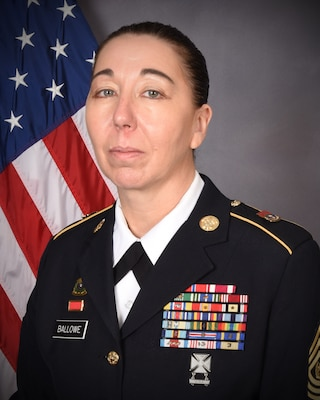 Command Sgt. Maj. Dena Ballowe of Litchfield, Illinois has been named to serve in the most senior enlisted position in the Illinois National Guard as the Senior Enlisted Leader effective July 1, the first woman to serve in the position. Illinois Adjutant General Brig. Gen. Richard Neely appointed Ballowe to the three year position. (Department of the Army photo)
