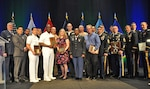 Army and Navy fuel handlers were honored for their exceptional dedication of service to the Warfighter during the semi-annual 2019 Department of Defense Fuels Awards Ceremony held at the Gaylord National Hotel and Convention Center National Harbor, Maryland, May 21. (left) DLA Energy Commander Air Force Brig. Gen. Albert Miller presented the fuel handler awards during the semi-annual ceremony. Photo by Irene Smith
