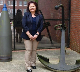 IMAGE: Amara Elizabeth Halt is the Missile Portfolio senior project manager for the Missile Systems Engineering and Integration Branch at Naval Surface Warfare Center Dahlgren Division (NSWCDD).