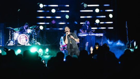Scotty McCreery, country music artist, performs at the 16th annual We Salute You event on Marine Corps Air Ground Combat Center, Twentynine Palms, Calif., May 18, 2019. The event was hosted by Marine Corps Community Services to show appreciation for service members and their families at the Combat Center. (U.S. Marine Corps photo by Lance Cpl. Colton Brownlee)