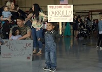 Family members of Marines with Marine Heavy Helicopter Squadron (HMH) 465 patiently await their loved ones return following a six-month deployment to the Indo-Pacific region at Marine Corps Air Station Camp Pendleton, Calif., May 17, 2019. HMH-465's mission was to strengthen international relations, modernize U.S. alliances and protect joint security in the Indo-Pacific region. (U.S. Marine Corps photo by Lance Cpl. Jaime Reyes)