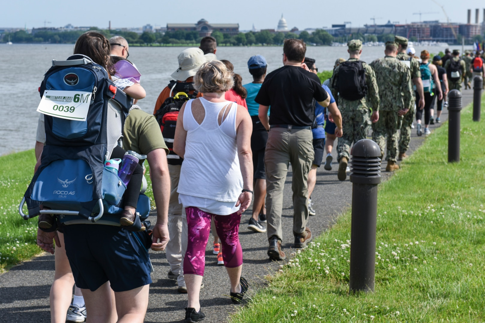 More than 230 service members, civilians and family members participated in the inaugural Team JBAB Memorial March, on Joint Base Anacostia-Bolling, Washington, D.C., May 23.