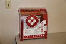The new Public Access Stations, containing four emergency first aid and trauma kits each, will be attached to walls of buildings strategically located throughout Marine Corps Logistics Base Barstow, later this month. The kits will allow for immediate trauma care, while paramedics, fire fighters and law enforcement are en route to emergency incidents.