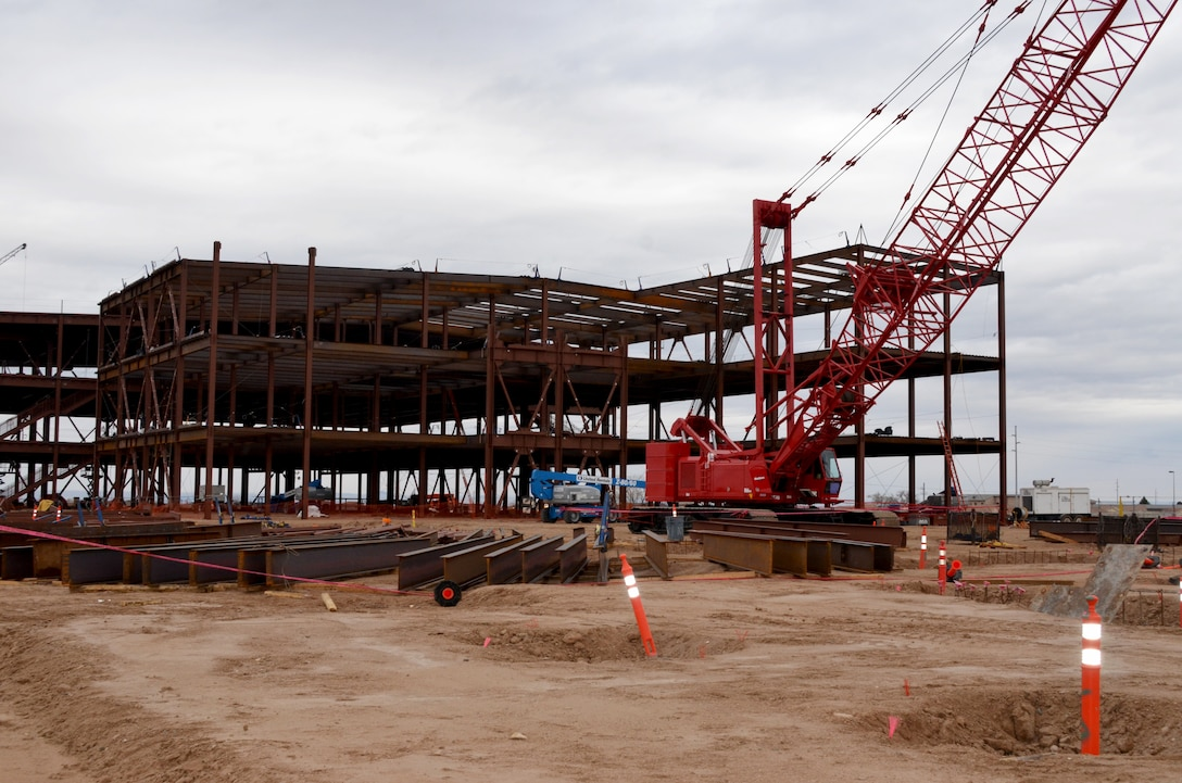Construction continues on the NNSA Albuquerque Complex building, March 21, 2019.