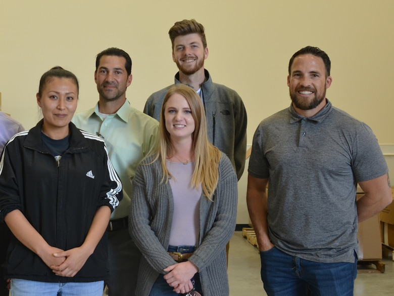 The District's Kirtland Resident Office team members, also in attendance for the NTSIL ribbon-cutting ceremony: (l-r): Sara Garcia, program analyst; Filemon Gallegos, PM; Christy Glandon, intern; Dakota Brodie, intern; and Jacob Chavez, resident engineer, KAFB.