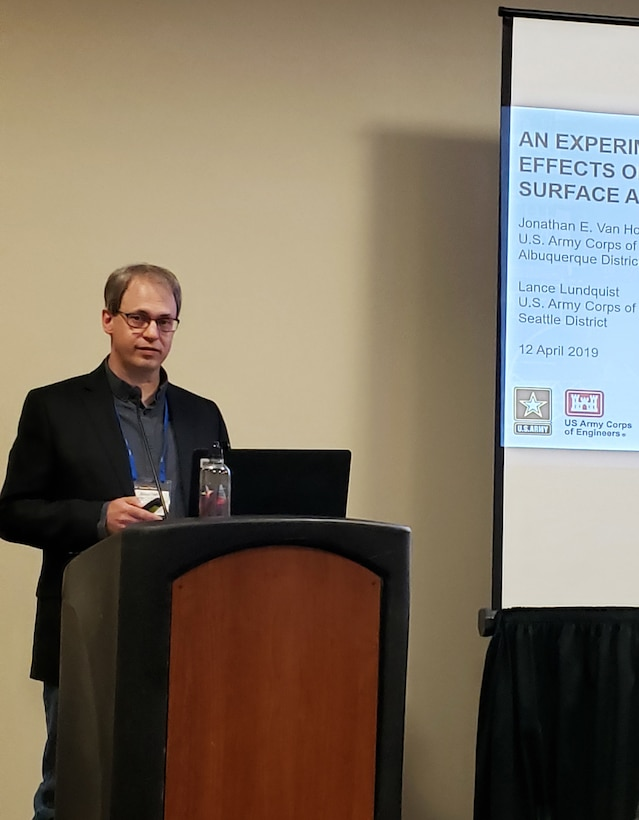 Jonathan Van Hoose, district archeologist, presented at the 84th Annual Meeting of the Society for American Archaeology, held at the Albuquerque Convention Center, April 12, 2019.