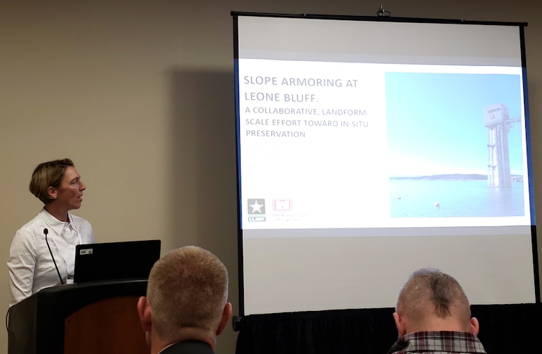 Christina Sinkovec, district archeologist, presented at the 84th Annual Meeting of the Society for American Archaeology, held at the Albuquerque Convention Center, April 12, 2019.