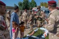 La 2e « Expeditionary, advise,assist and accompany » (EA3)du mandat XIII a eu lieu du 08 au 10 mai 2019 dans un quartier au nord de Bagdad. Il s'agit d'accompagner le 4e Bataillon de la 24e Brigade irakienne lors d'opérations de fouilles et de reconnaissances telles qu'il en mène quotidiennement dans sa zone de responsabilité. Lors de ce déploiement des aides médicales gratuites (AMG) sont proposées à la population irakienne par le service de santé de la TF. La possibilité d'assister aux briefing, aux déploiements ainsi qu'à la totalité du déroulement de l'opération a donné une vision claire aux divers conseillers de la Task Force Monsabert et permet ainsi d'ajuster une programmation de stage adapté au besoin de l'armée irakienne.                                                                                   Lancée depuis le 19 septembre 2014, l'opération Chammal représente la participation  française à l'OIR (opération Inherent Resolve) et mobilise aujourd'hui près de 1 000  militaires. À la demande du gouvernement irakien et en coordination avec les alliés de la  France présents dans la région, l'opération Chammal repose sur deux piliers  complémentaires : un pilier « formation» au profit d'unités de sécurité nationale irakiennes et  un pilier « appui » consistant à soutenir l'action des forces locales engagées au sol contre  Daech et à frapper les capacités militaires du groupe terroriste.