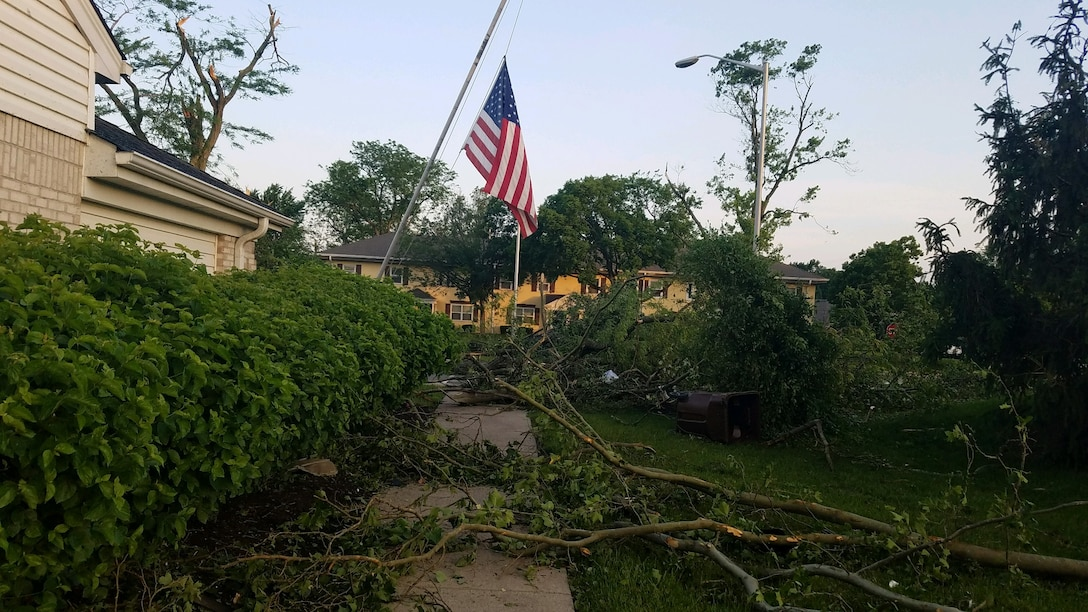 Approximately 150 homes in the Prairies at Wright Field housing area were damaged, some significantly, during the storm that passed through the Dayton area late on May 27.