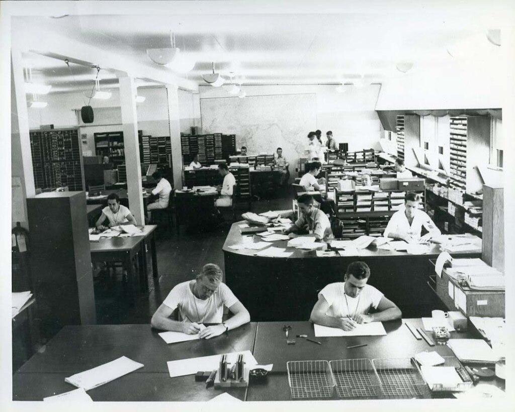 Fleet Radio Unit Pacific (FRUPAC) in Hawaii working on JN-25, the principal Japanese Navy encryption system
