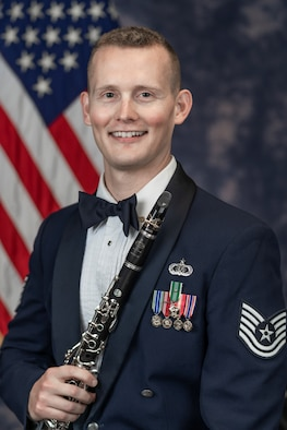 Official photo of Technical Sgt. Jeremy Klenke, Clarinetist with The United States Air Force Band, Joint Base Anacostia-Bolling, Washington, D.C.