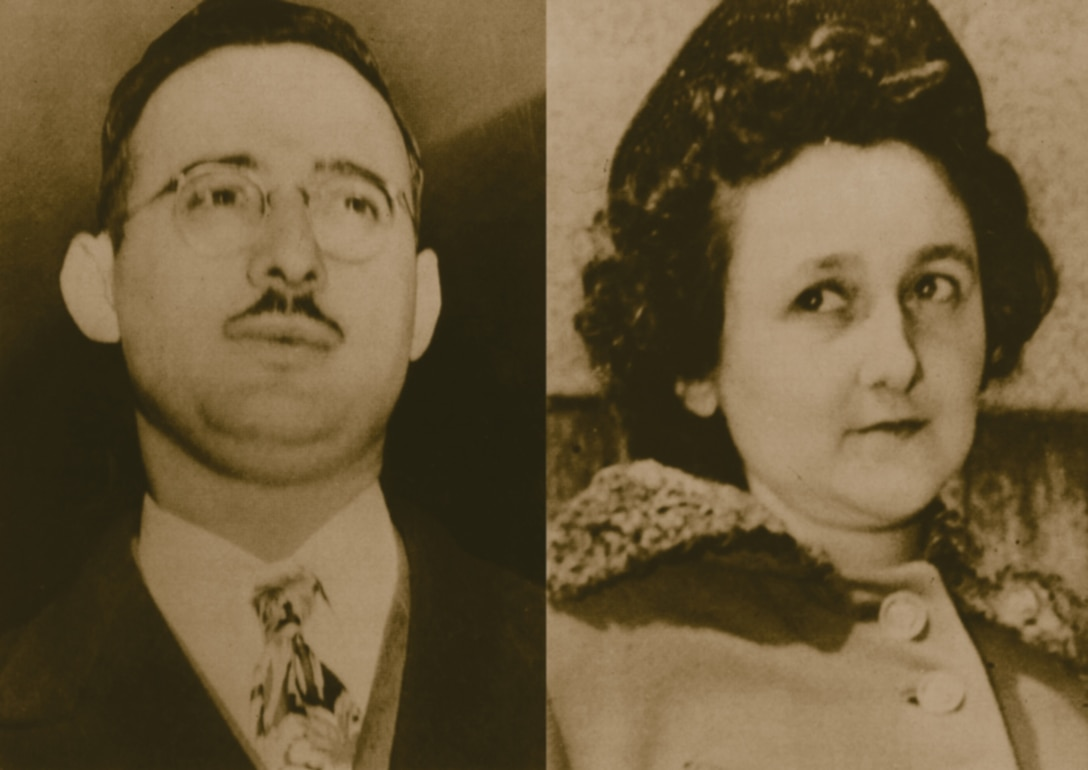 Julius and Ethel Rosenberg, convicted and executed for treason in 1953