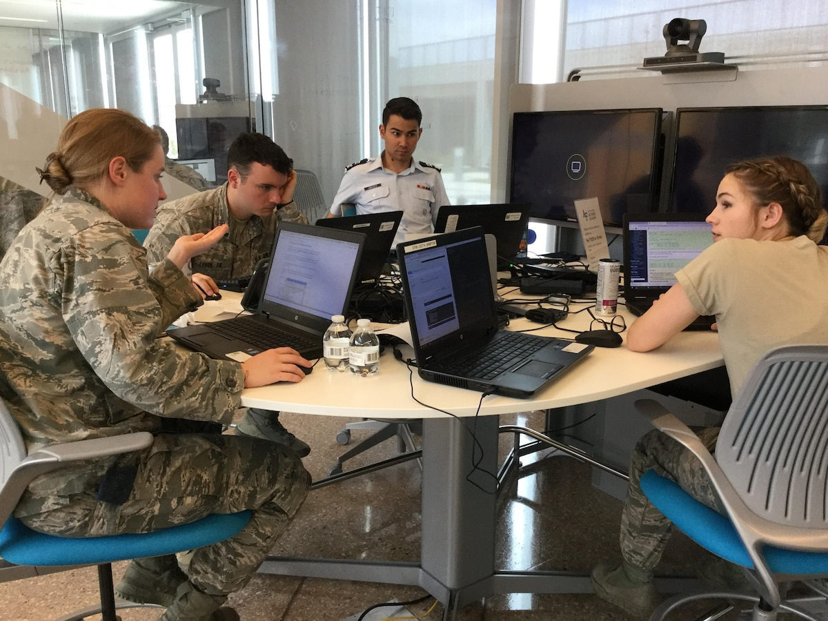 U.S. Air Force cadets participating in NSA's 2019 NCX event.