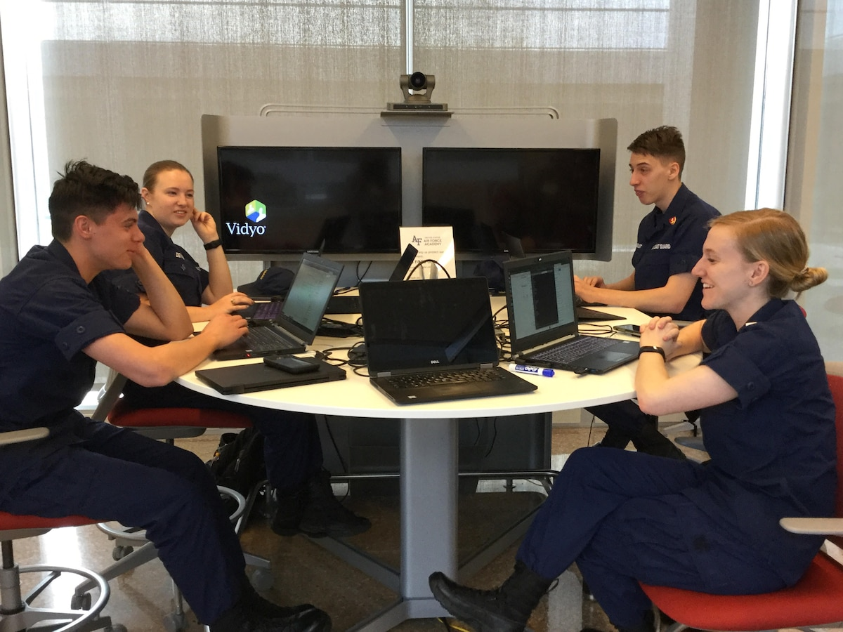 U.S. Coast Guard Academy cadets participating in NSA's 2019 NCX event.