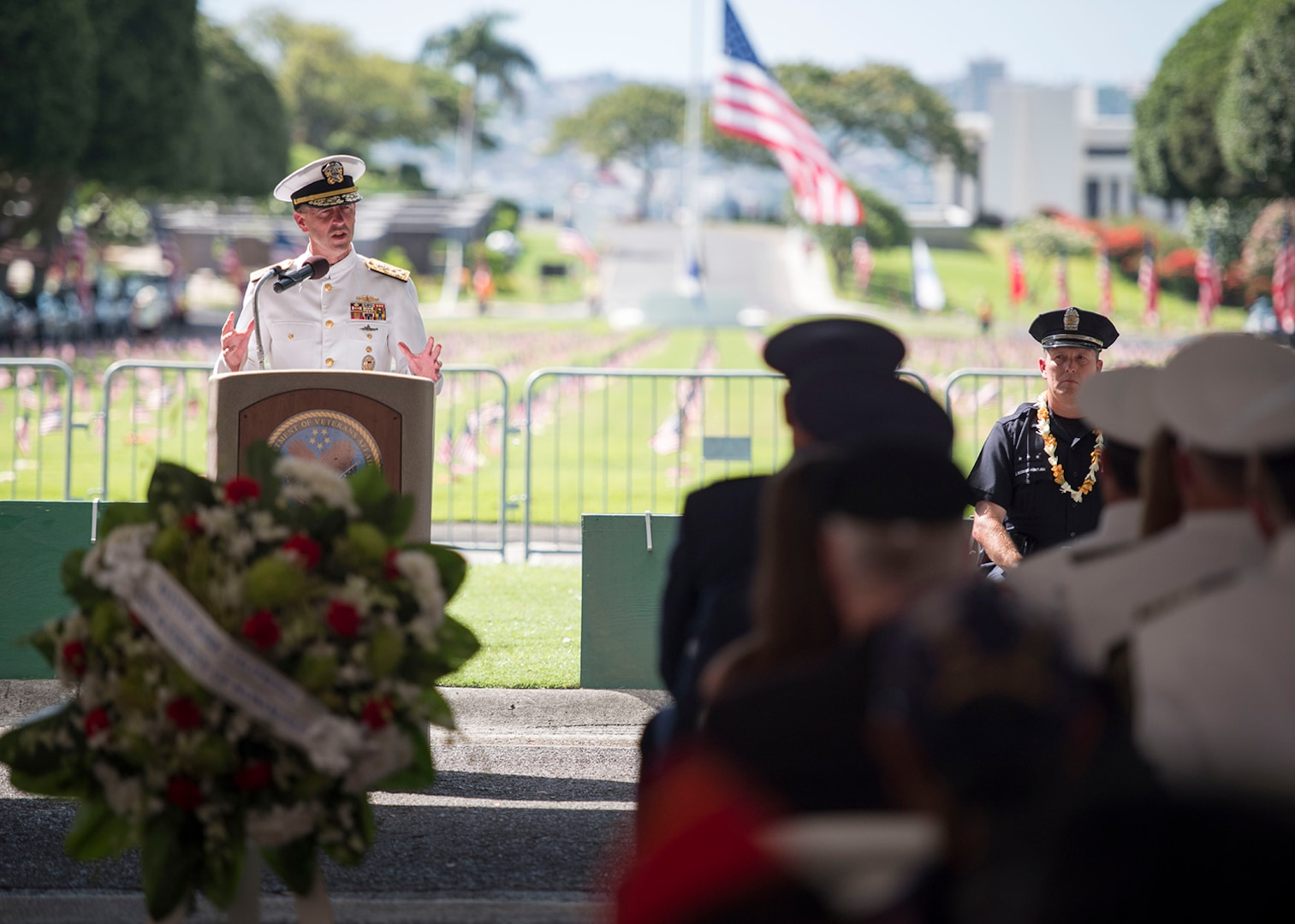 Chief of Naval Operations Honors Service Members in Hawaii Memorial Day Ceremony