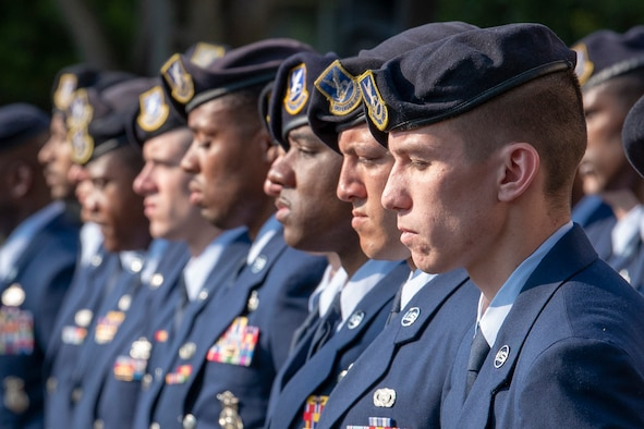 374th SFS Airmen finish Police Week with retreat ceremony