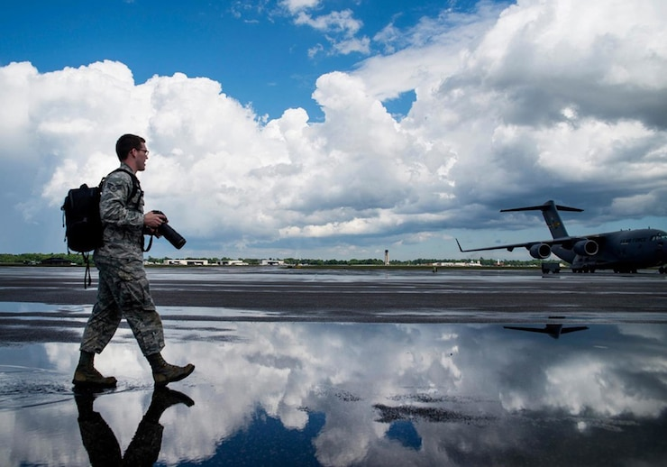 Image of an Airmen with link to  Air Force Public Affairs Agency