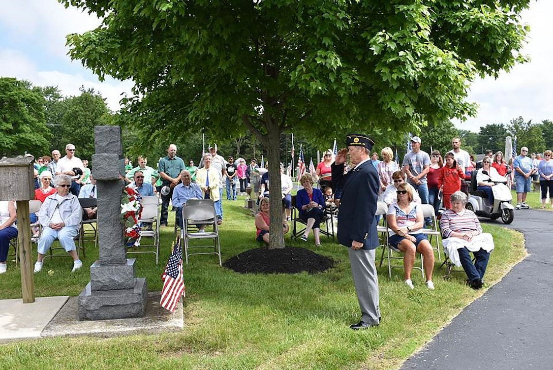 Col. Bryan Runion, 445th Mission Support Group commander, was the guest speaker at the Memorial Day Service for the City of Versailles, Ohio, May 27, 2019.