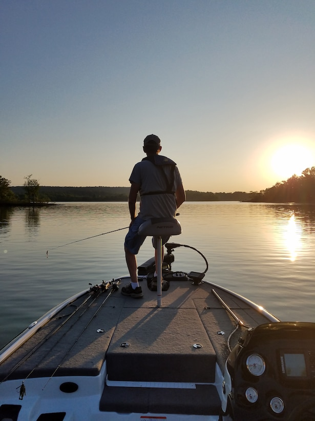 Fisherman waits for his big catch at Rough River Lake