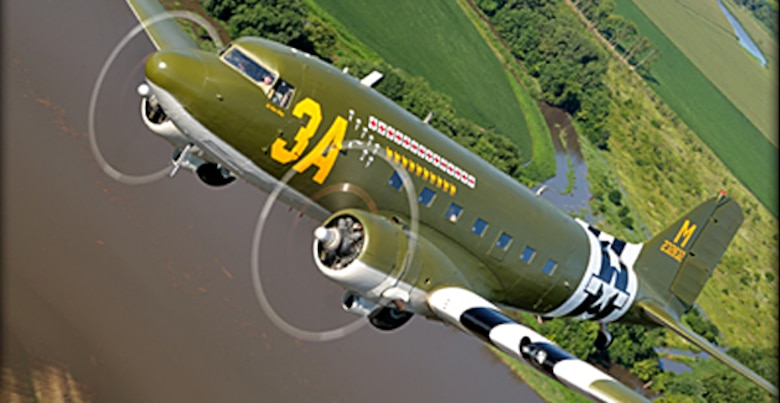 """DC-3 """"Sky King"""" - This aircraft was built as a C-47-DL sn 42-32832 and delivered to the U.S. Army Air Force on February 11, 1943.   It was assigned to the  53rd Troop Carrier Squadron.(Contributed photo)"""