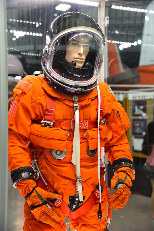 Astronauts wore the Advanced Crew Escape Suit (ACES)