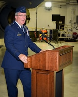 Col. Grant Welcomes Visitors During Change of Command Ceremony