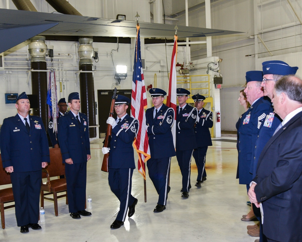 Honor Guard Post Colors During Change of Command Ceremony
