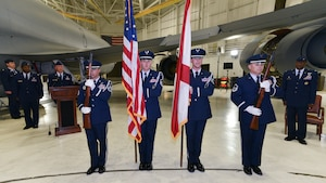 117th Honor Guard Posts Colors During Ceremony