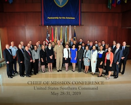 Group photo of attendees of the annual Chiefs of Mission Conference.