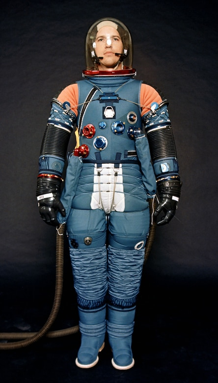 What's inside: Underneath the white insulation covering, the A7LB suit was a complex collection of cables, pulleys, flexible joints, various fittings, and the pressure-retaining bladder.(Contributed photo)