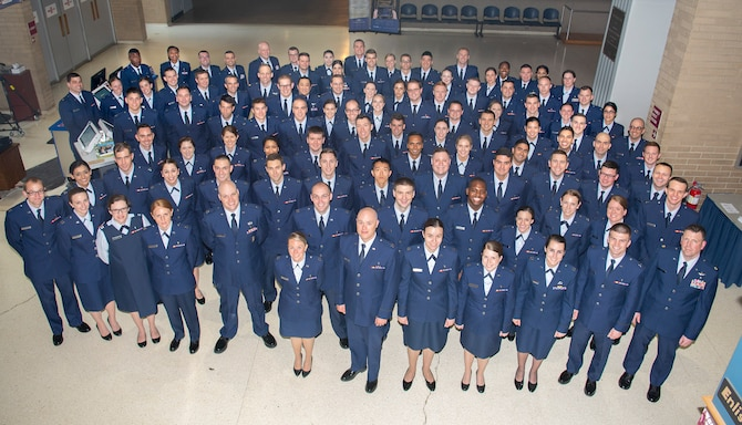 The 88th Medical Group recognized approximately 100 medical personal for completing their residency programs during a graduation ceremony May 23, 2019, at the National Museum of the U.S. Air Force. Lt. Gen. Dorothy A. Hogg, Air Force surgeon general, gave the graduation address. (U.S. Air Force photo by R.J. Oriez)