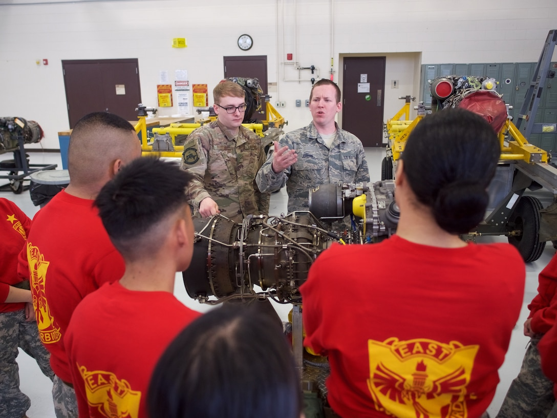 176th Wing Airmen host Junior ROTC cadets.