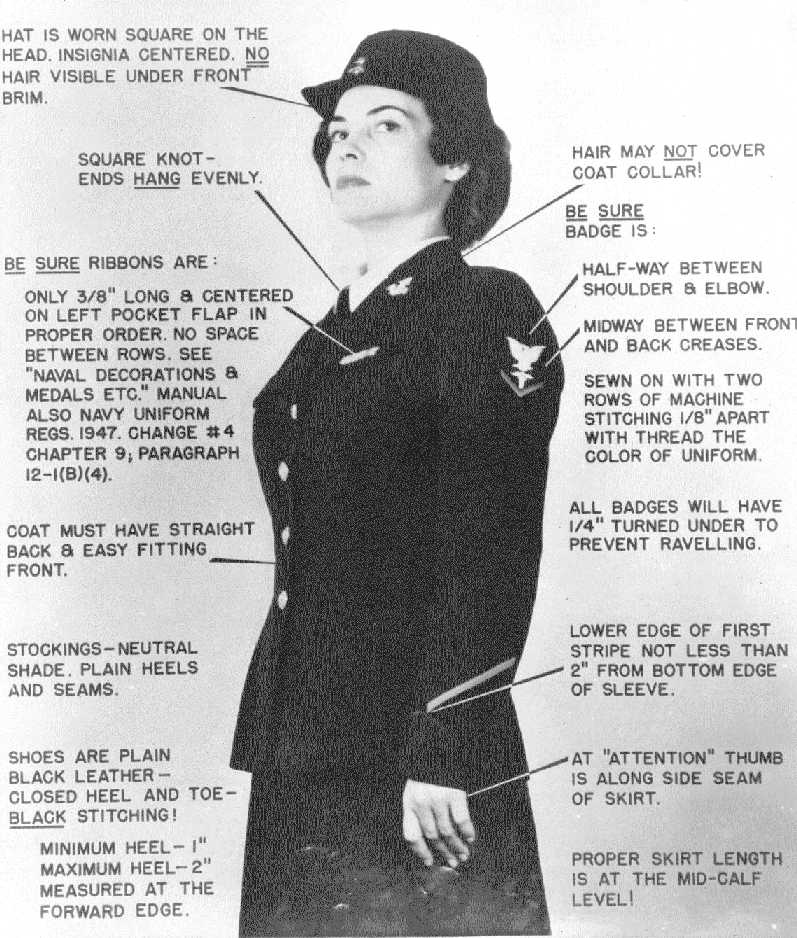 SPAR uniform details: service dress blue, 1942
