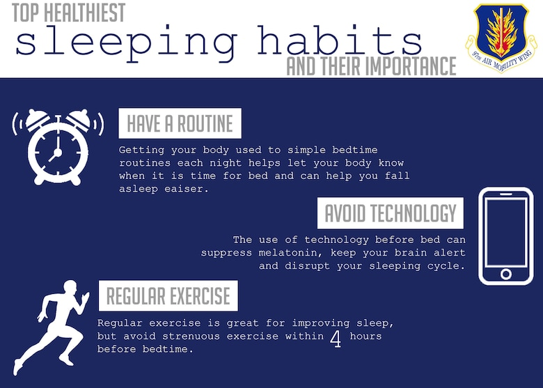 Here are some different ways to help ensure better sleep. (U.S. Air Force Illustration by Airman 1st Class Breanna Klemm)